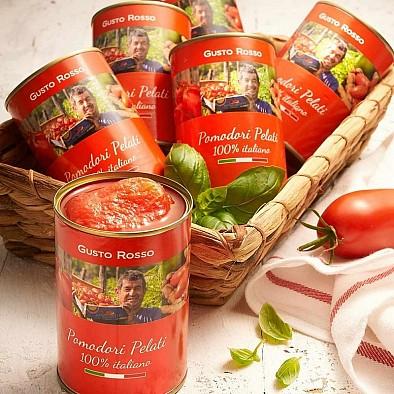 Pelati - loupaná rajčata sada 6 ks