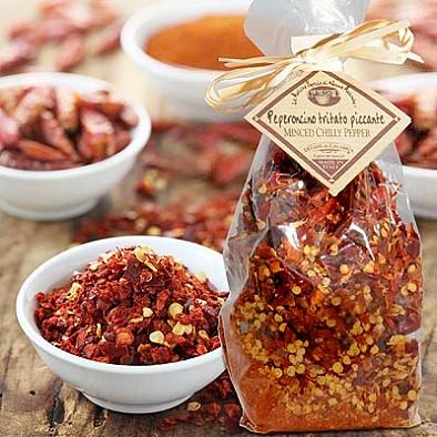 Sušené chilli z Kalábrie